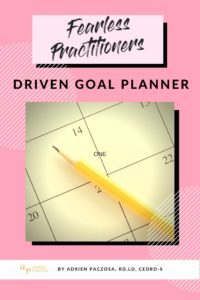 gpoal planner for dietitians and clinicians