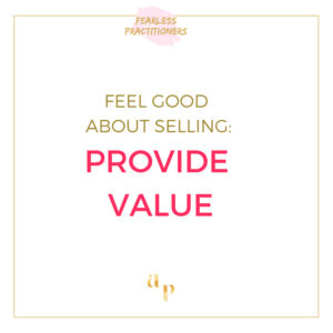 provide value when selling