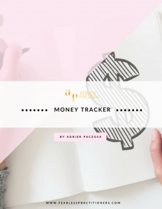 money tracker for dietitians