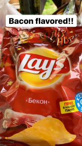 lays bacon flavored chips in russia