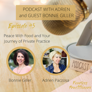 Fearless Practitioners Podcast_Peace With Food and Your Journey of Private Practice
