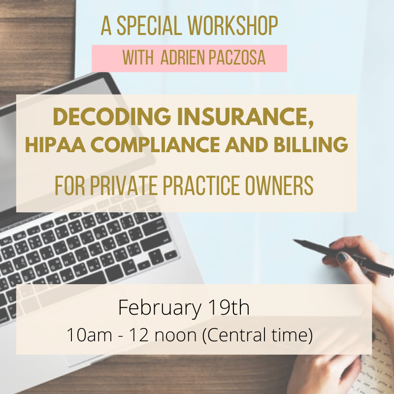 Fearless Practitioners - HIPAA Compliance, Insurance and Billing