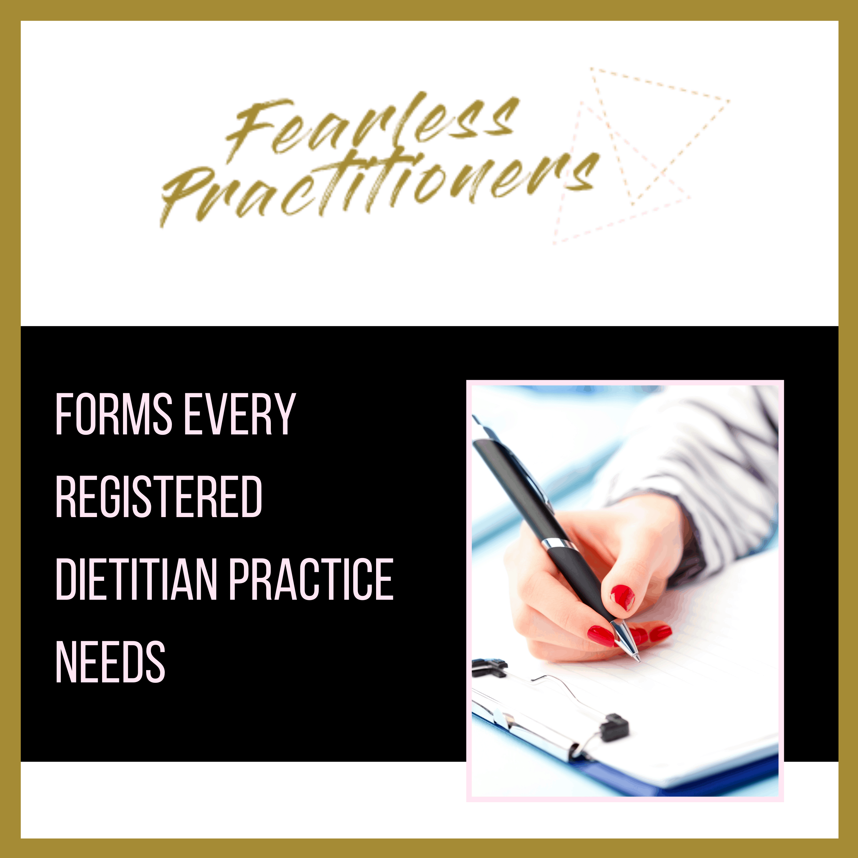 forms all registered dietitians need for their practice